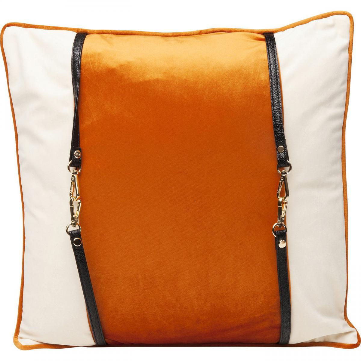 Karedesign Coussin orange Classy Belt 45x45cm Kare Design