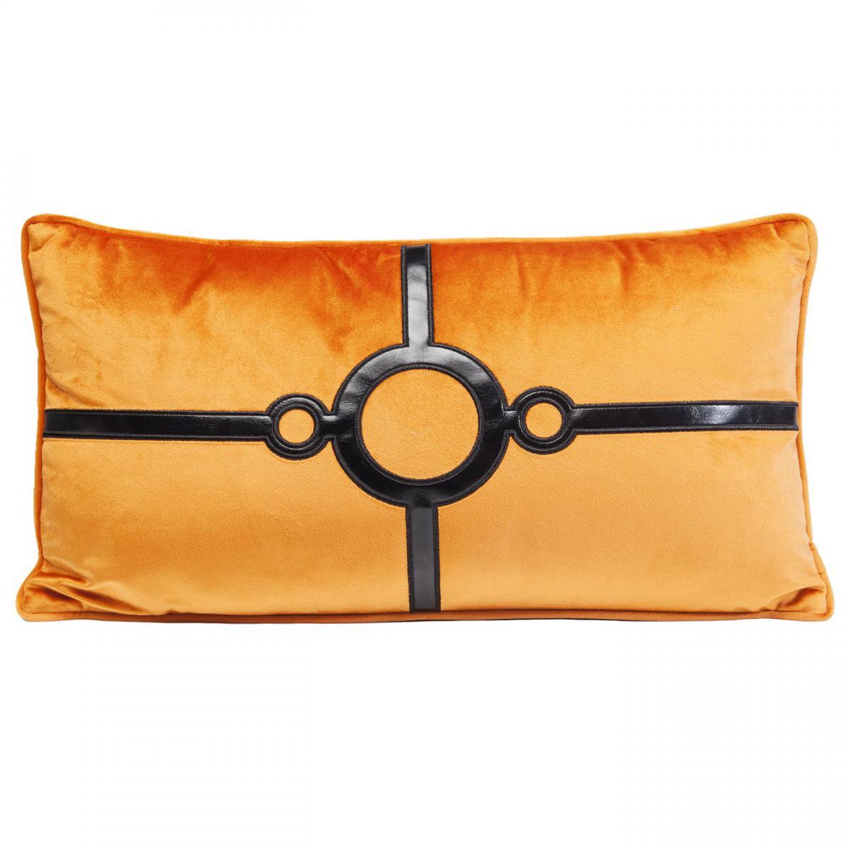 Karedesign Coussin orange Classy Circles 28x50cm Kare Design
