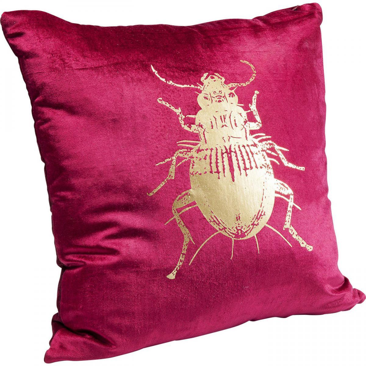 Karedesign Coussin scarabée rouge 45x45cm Kare Design