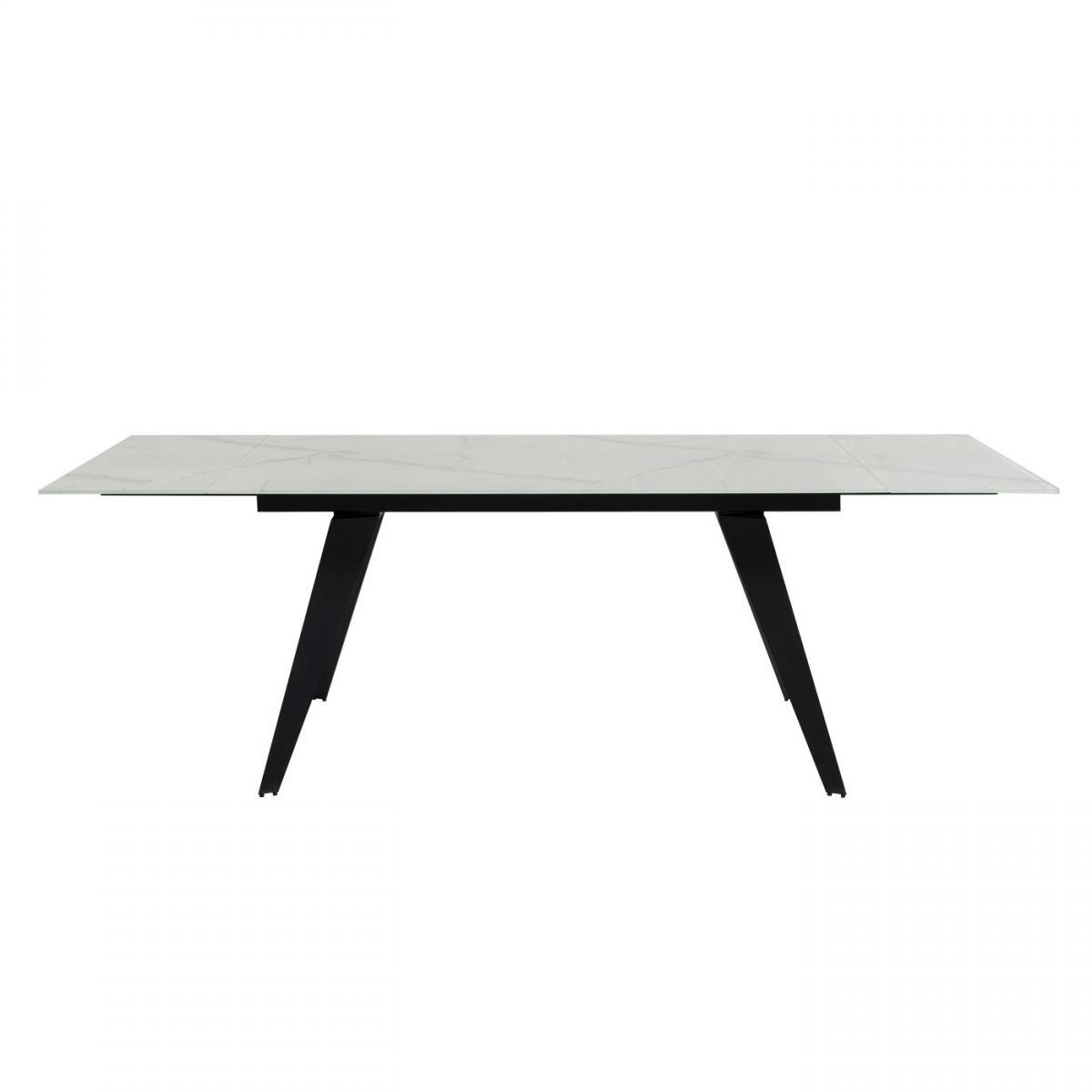Karedesign Table à rallonges Amsterdam 160x90cm effet marbre blanc Kare Design