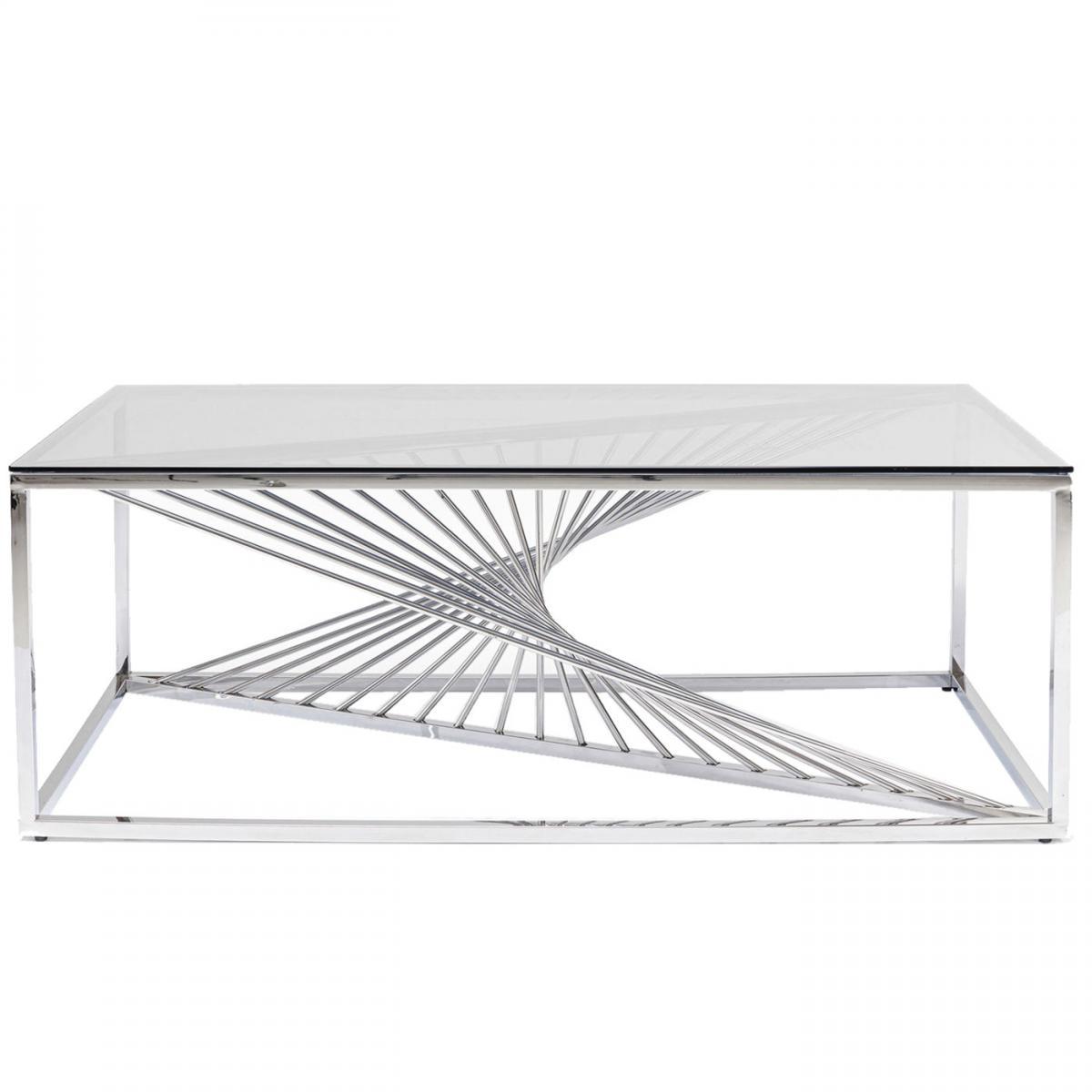Karedesign Table basse Laser 120x60cm chromée Kare Design