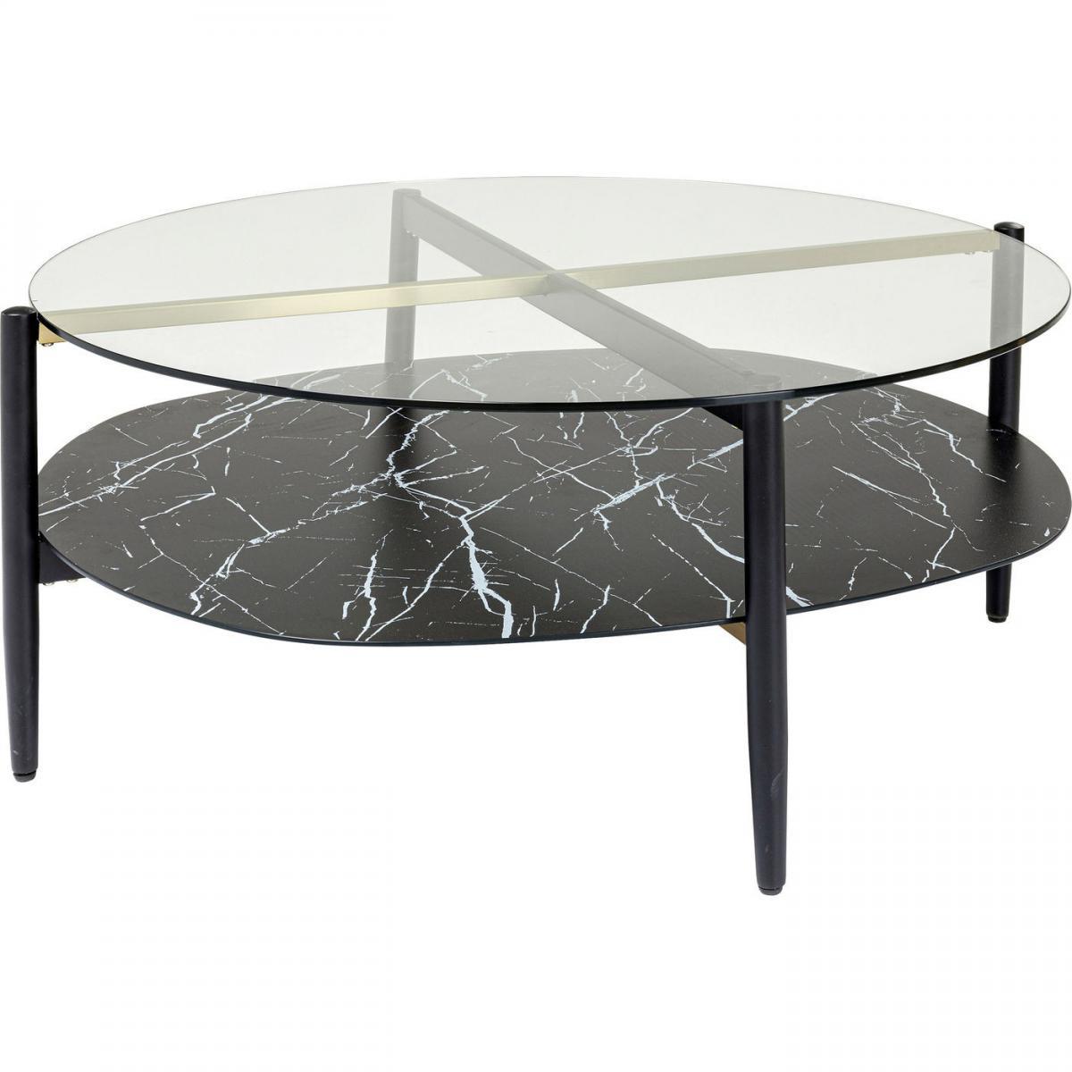 Karedesign Table basse Noblesse ovale 97x91cm Kare Design