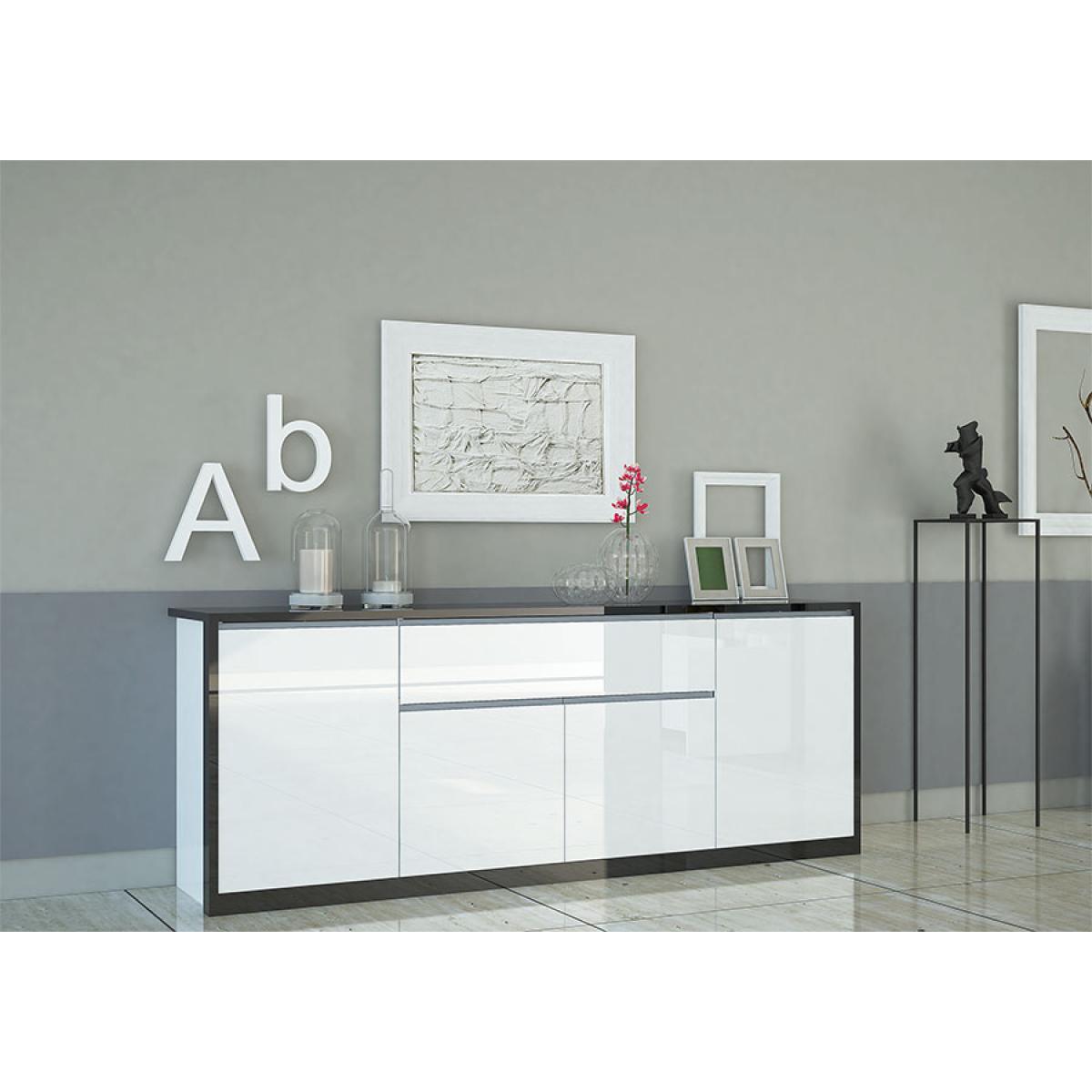 Kasalinea Buffet bahut blanc laqué design ORIANE
