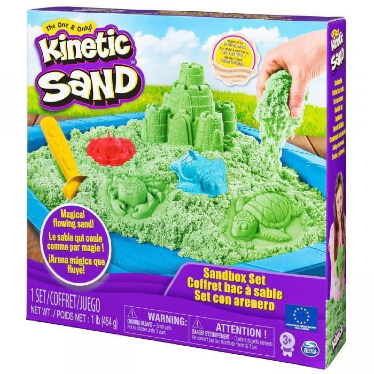 Kinetic Sand KINETIC SAND - Coffret Chateau Bac a sable 450g - Modele aleatoire