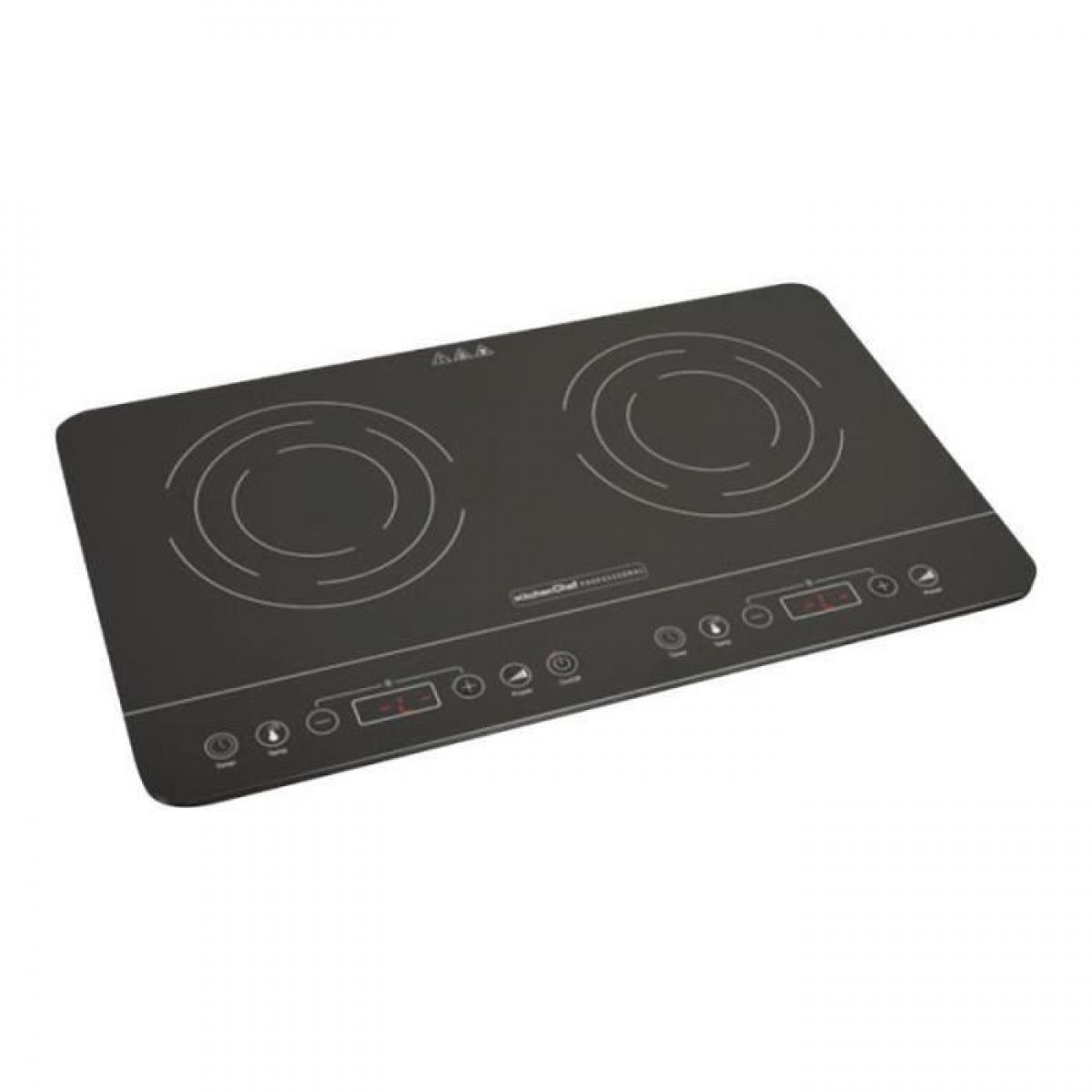 Kitchen Cc KITCHEN CHEF KCYL35-DC06 Plaque de cuisson induction 2 foyers - Noir