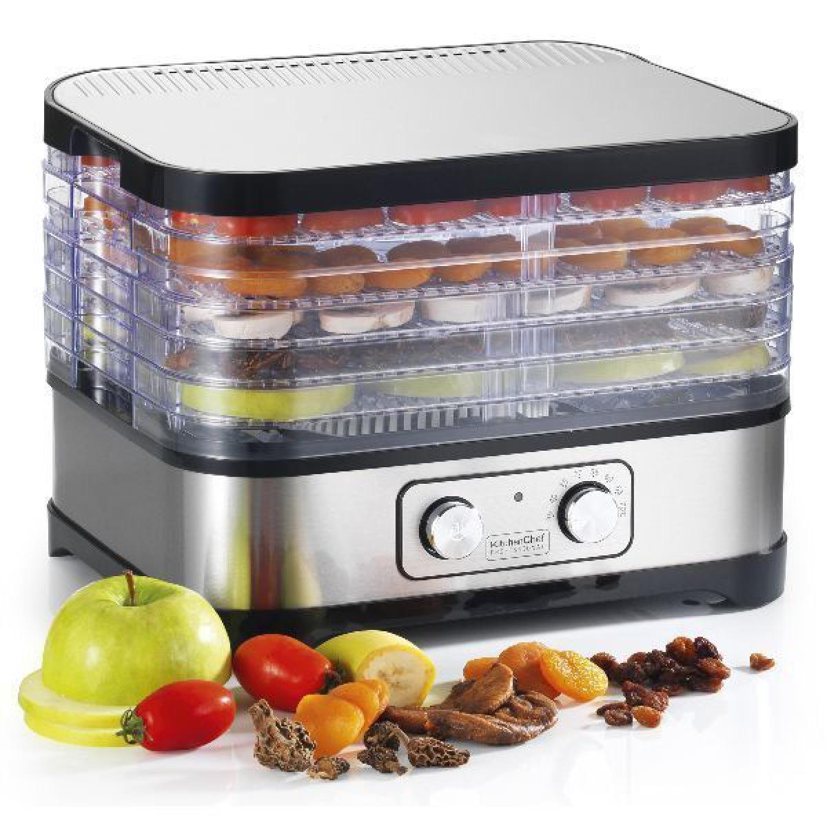 Kitchen Chef DESHYDRATEUR 5 PLATEAUX 24X31CM 400W INOX KITCHENCHEF - SECCO5MECA