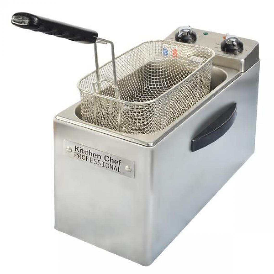 Kitchen Chef FRITEUSE INOX 2500W 4L MINUTERIE 30MN TH 190C° ZONE FROIDE DEMONTABLE KITCHENCHEF - KCFR4L