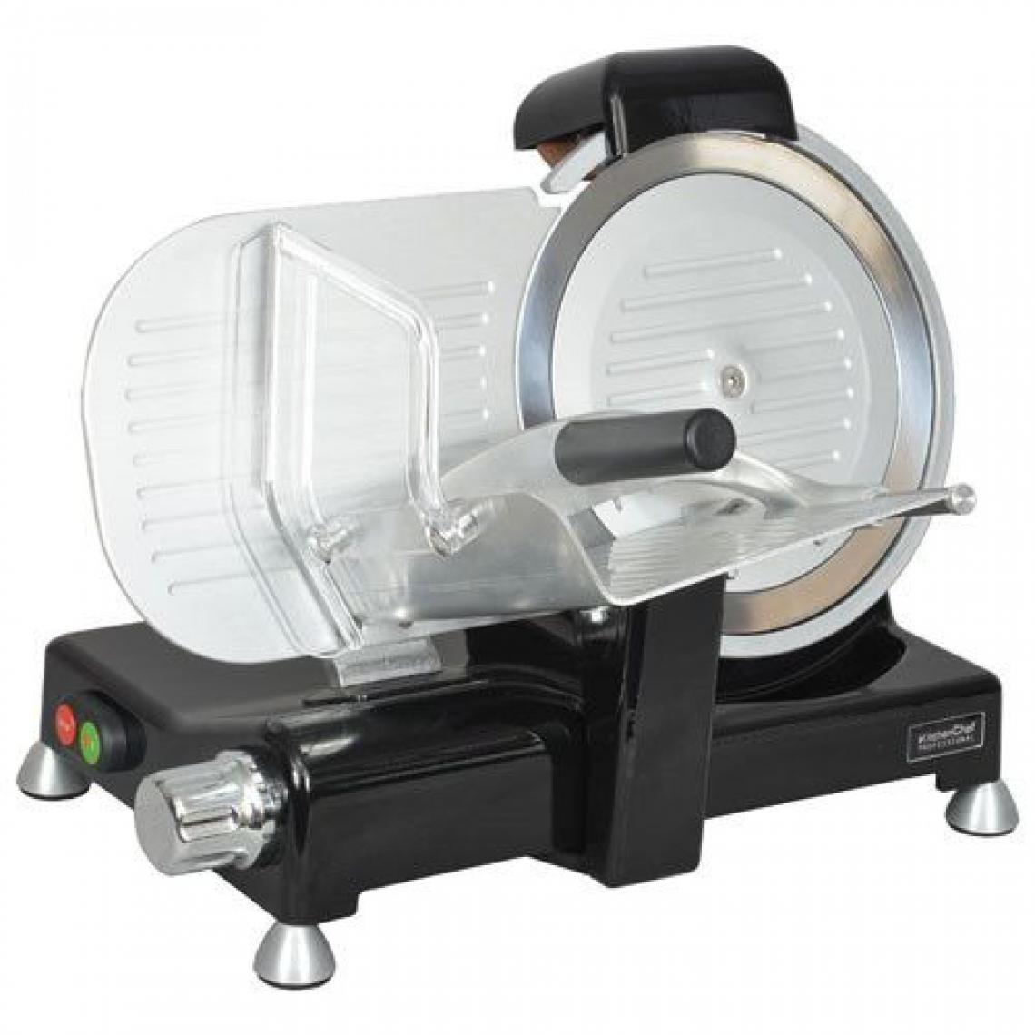 Kitchen Chef TRANCHEUSE PRO 140W 12,1KG CORPS FONTE ALU LAME 25,5CM INOX PROTECTION KITCHENCHEF - KCPTR250N