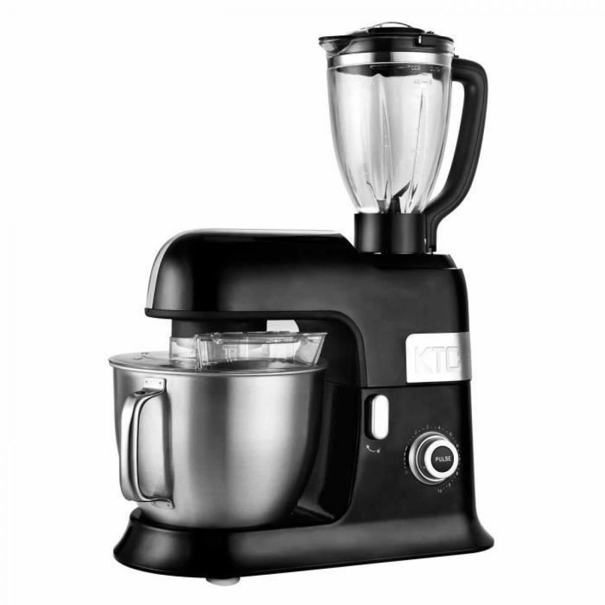 Kitchencook KITCHENCOOK EXPERT XL BLACK Robot Petrin avec Blender - 6,5L - Noir