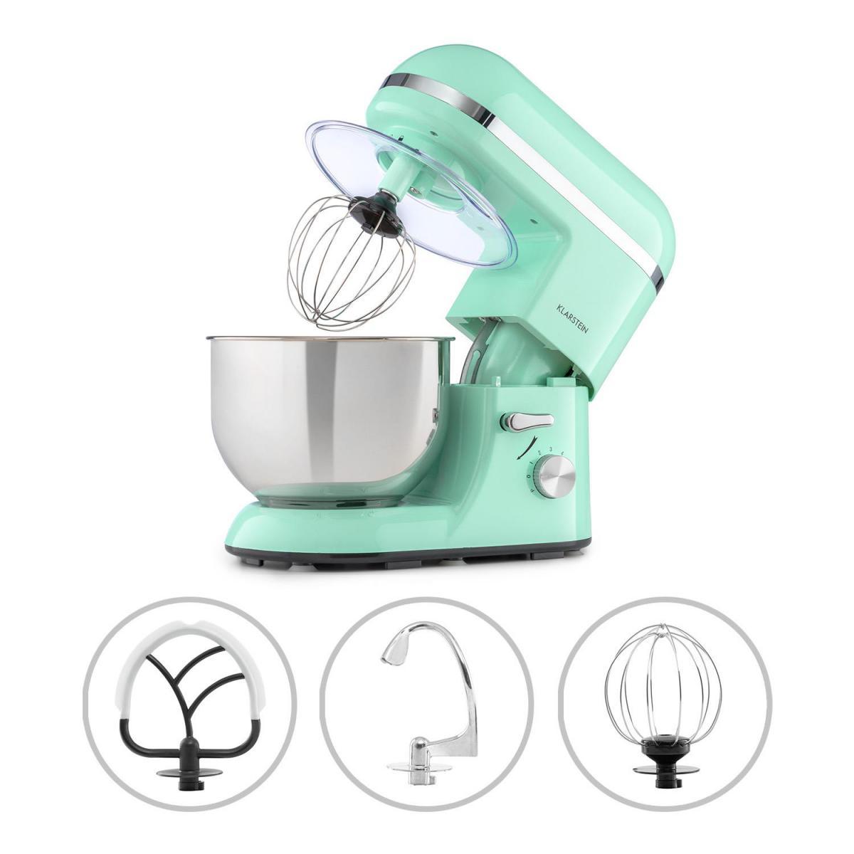Klarstein Klarstein Bella Elegance - Robot de cuisine 1300W, bol mélangeur inox 5L, 6 vitesses - Vert