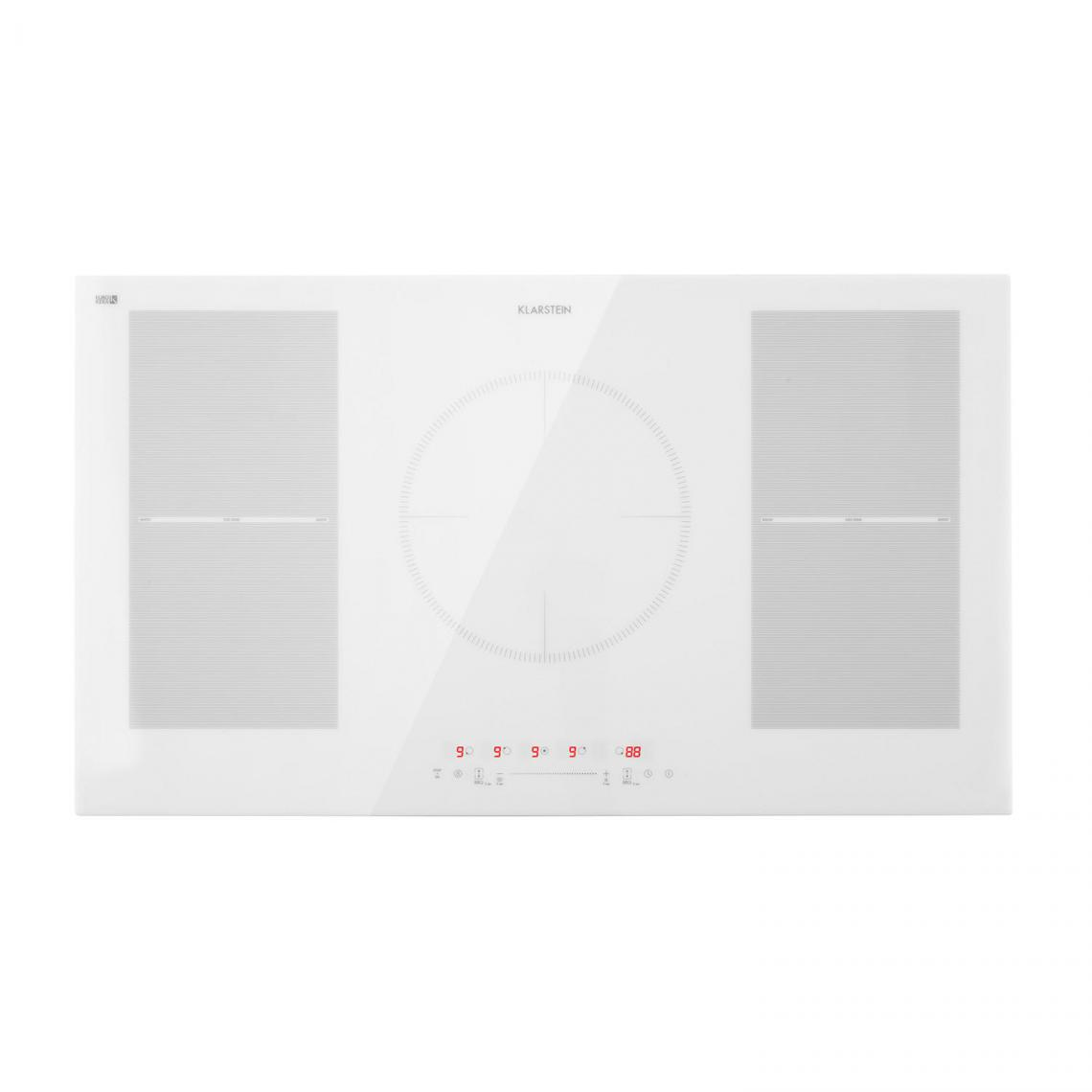 Klarstein Plaque de cuisson à induction - Klarstein Delicatessa 90 Flex - Encastrable, 5 zones, 7000W max. - Blanc