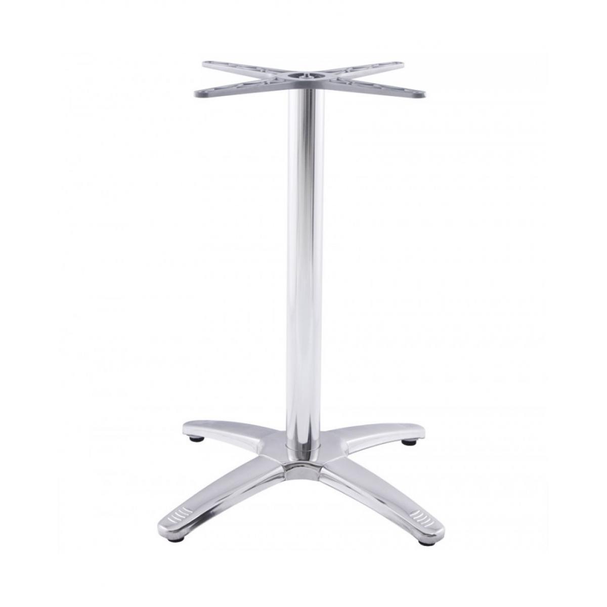 Kokoon Design pied de table sans plateau 75cm CHROME 47x47x73 cm
