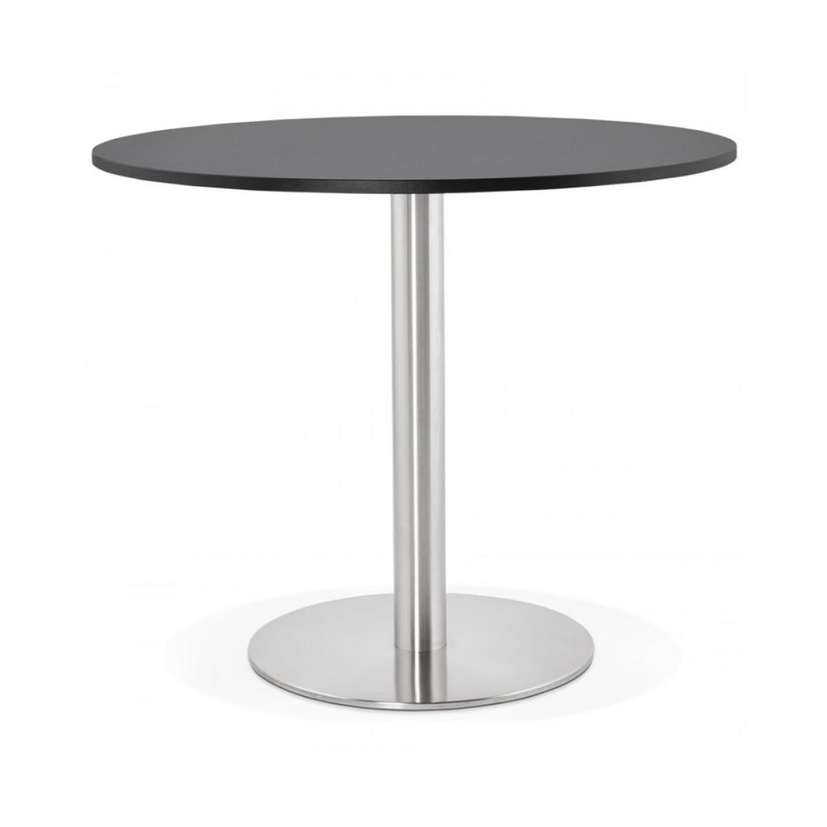 Kokoon Design Table à diner design GODET BLACK 90x90x75 cm
