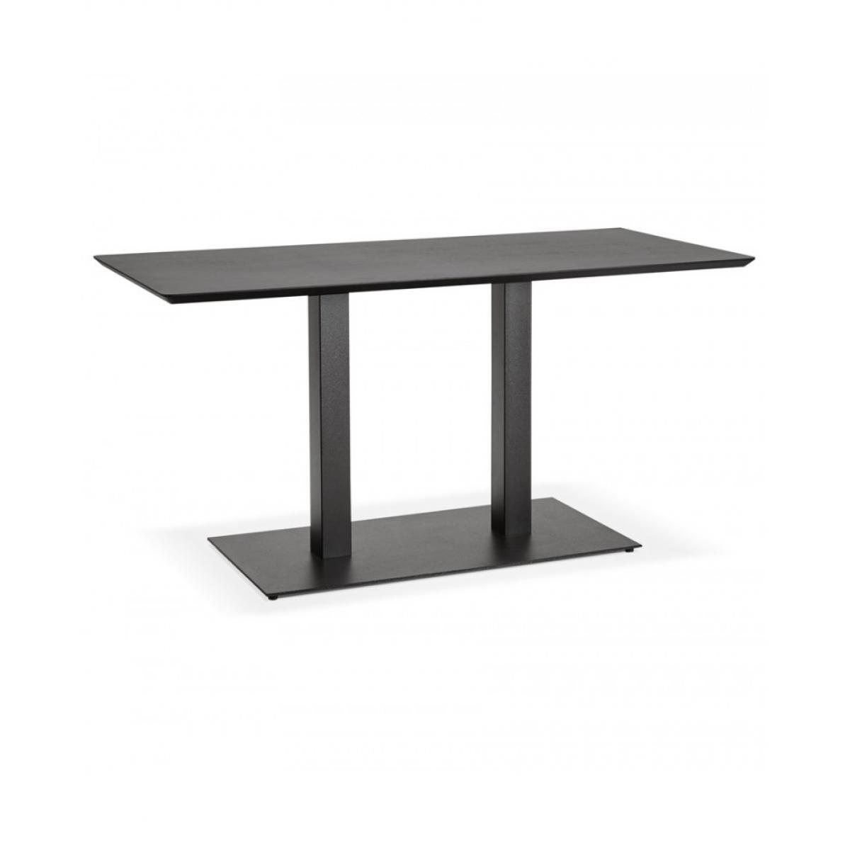 Kokoon Design Table à diner design JAKADI BLACK 70x150x75 cm