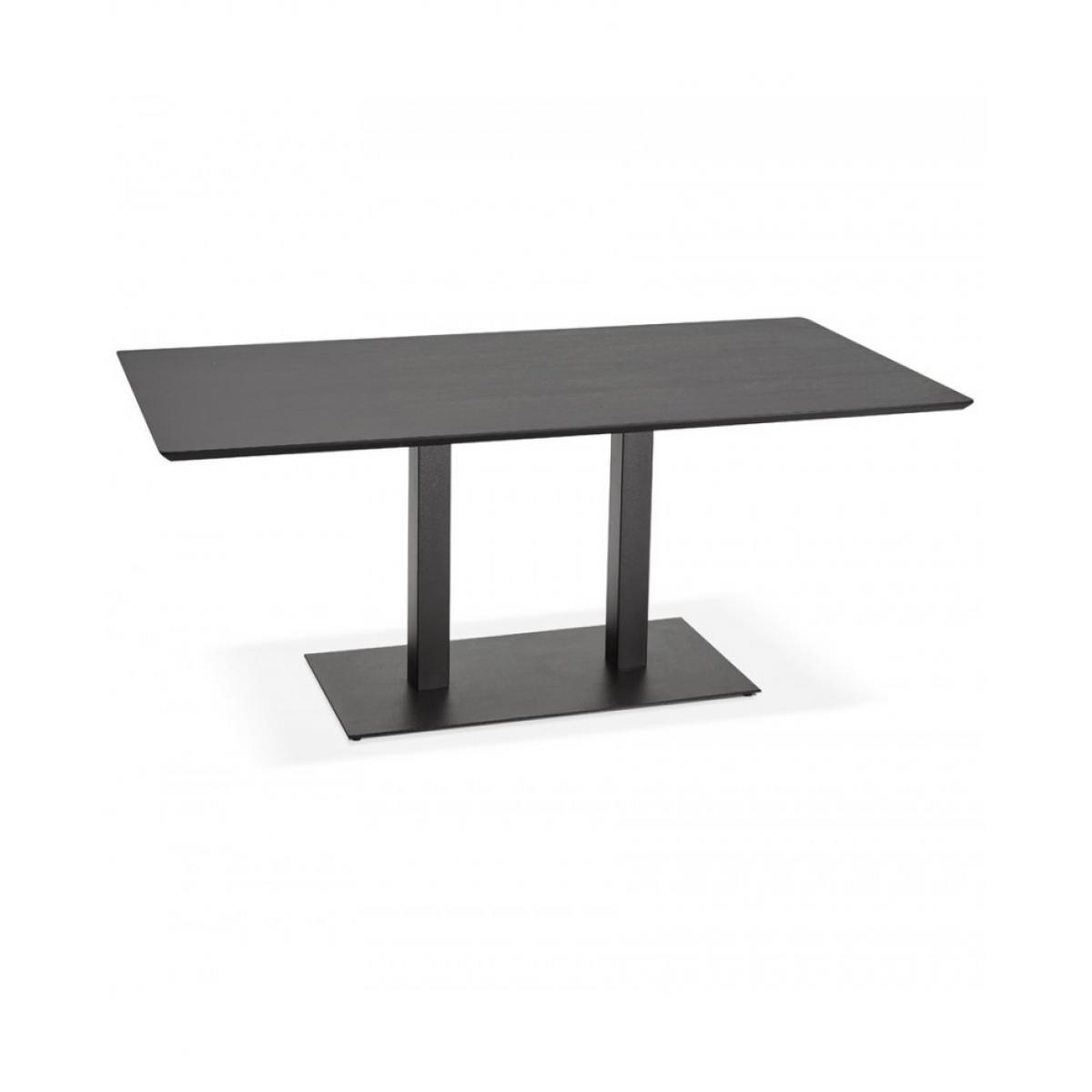 Kokoon Design Table à diner design JAKADI BLACK 90x180x75 cm