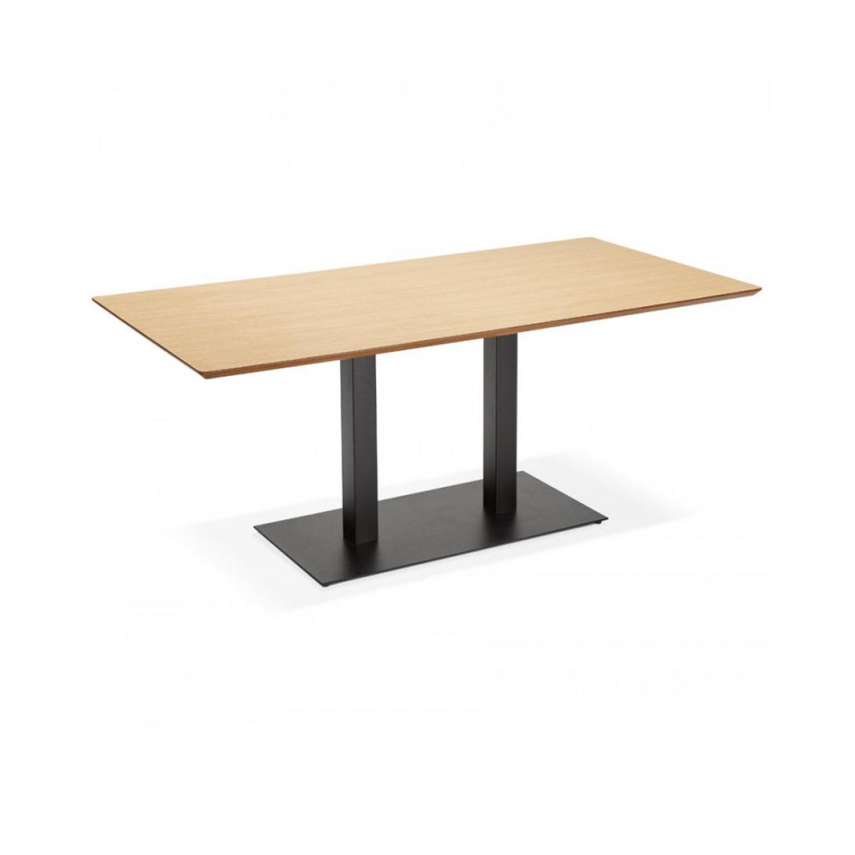 Kokoon Design Table à diner design JAKADI NATURAL 90x180x75 cm