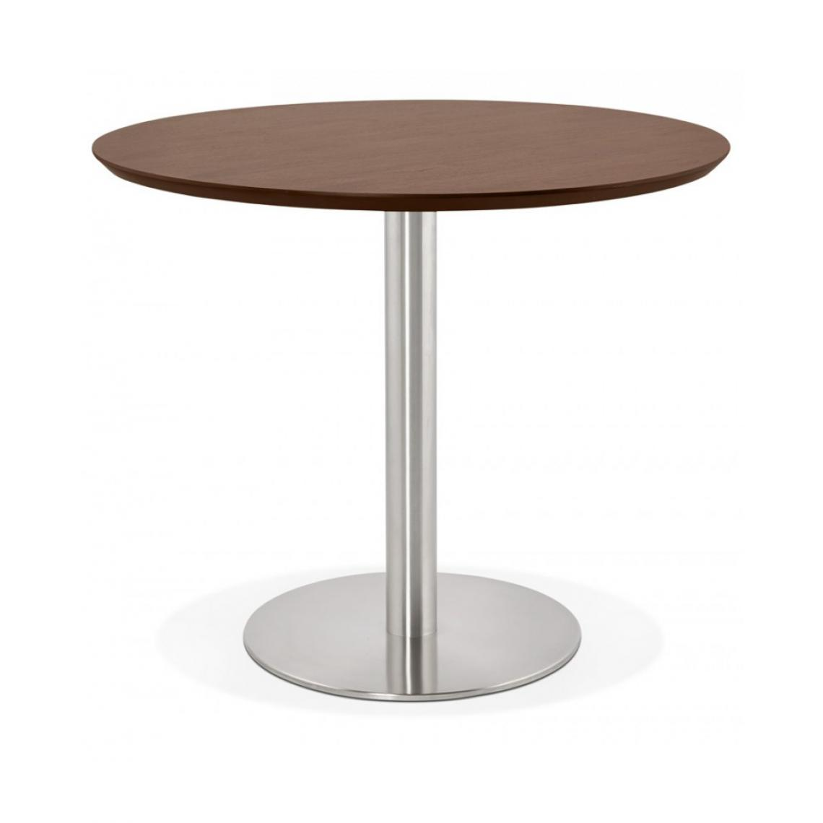 Kokoon Design Table à diner design JAMIE WALNUT 90x90x75 cm