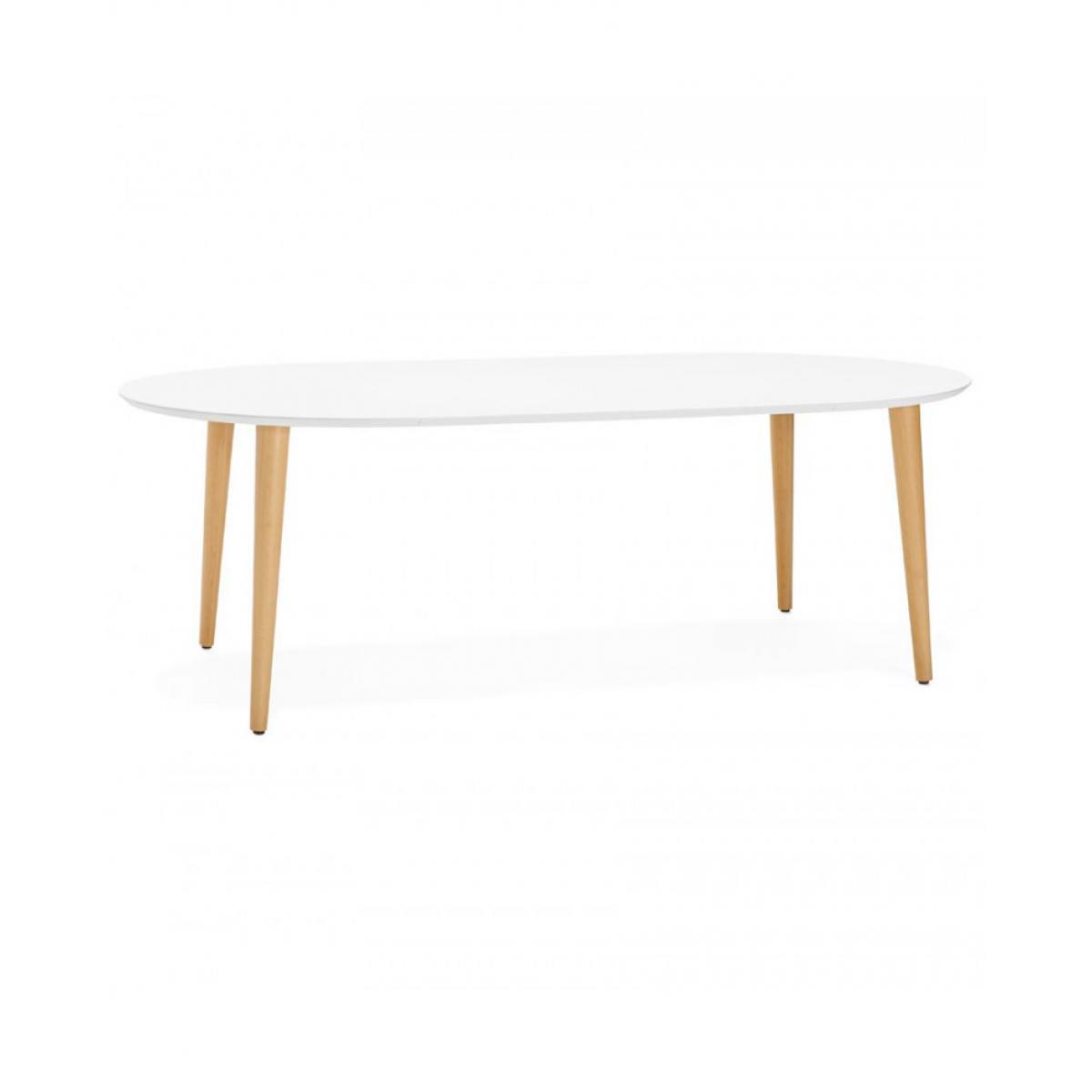 Kokoon Design Table à diner design NUNAVUT WHITE 120x200x75 cm