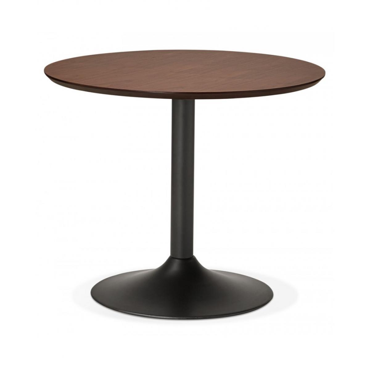 Kokoon Design Table à diner design PATON 90 WALNUT 90x90x75 cm