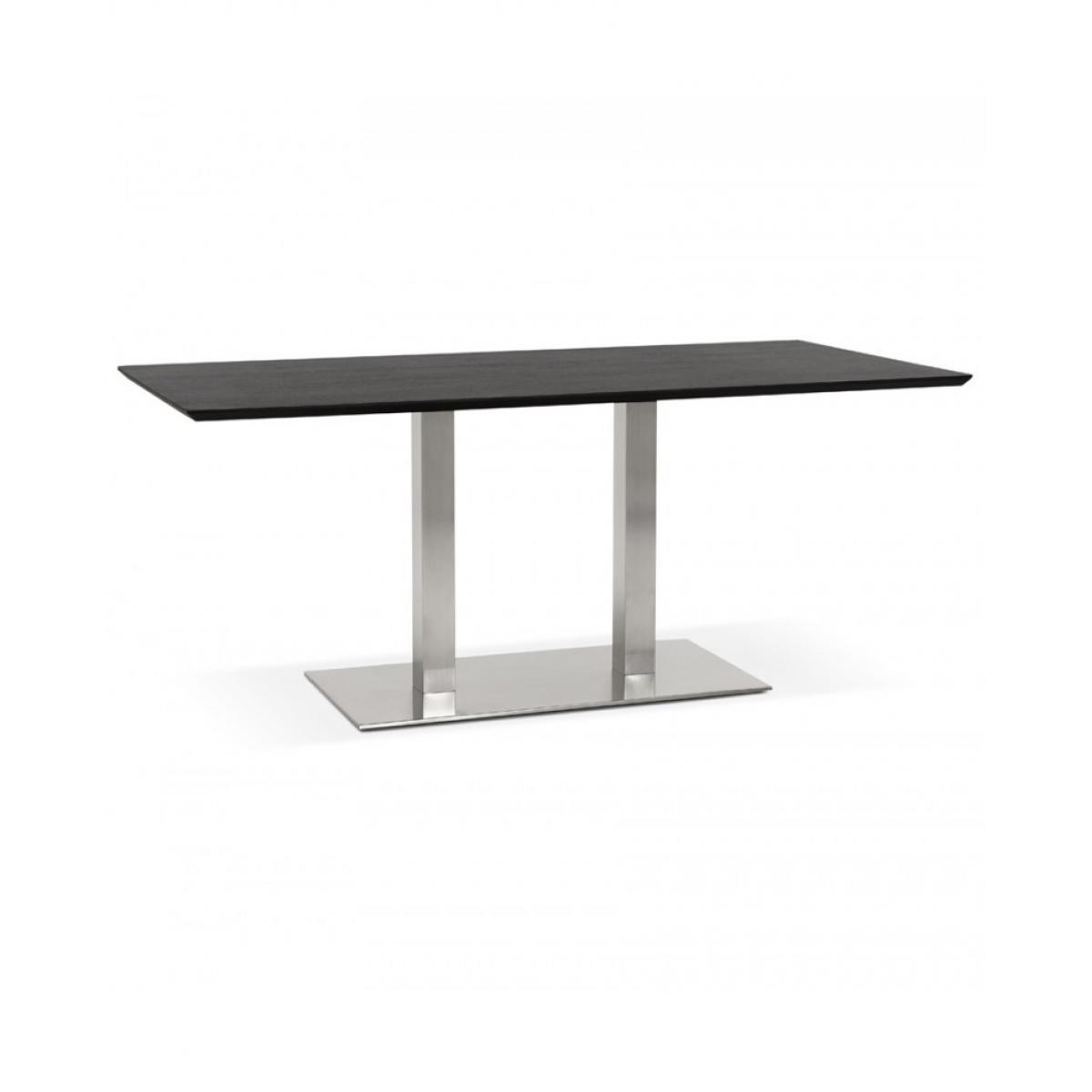 Kokoon Design Table à diner design RECTA BLACK 90x180x75 cm