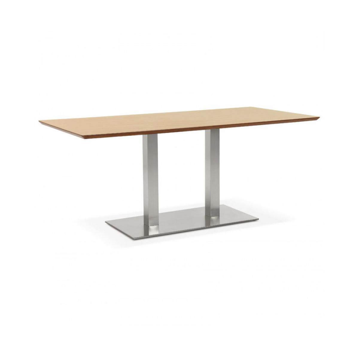 Kokoon Design Table à diner design RECTA NATURAL 90x180x75 cm