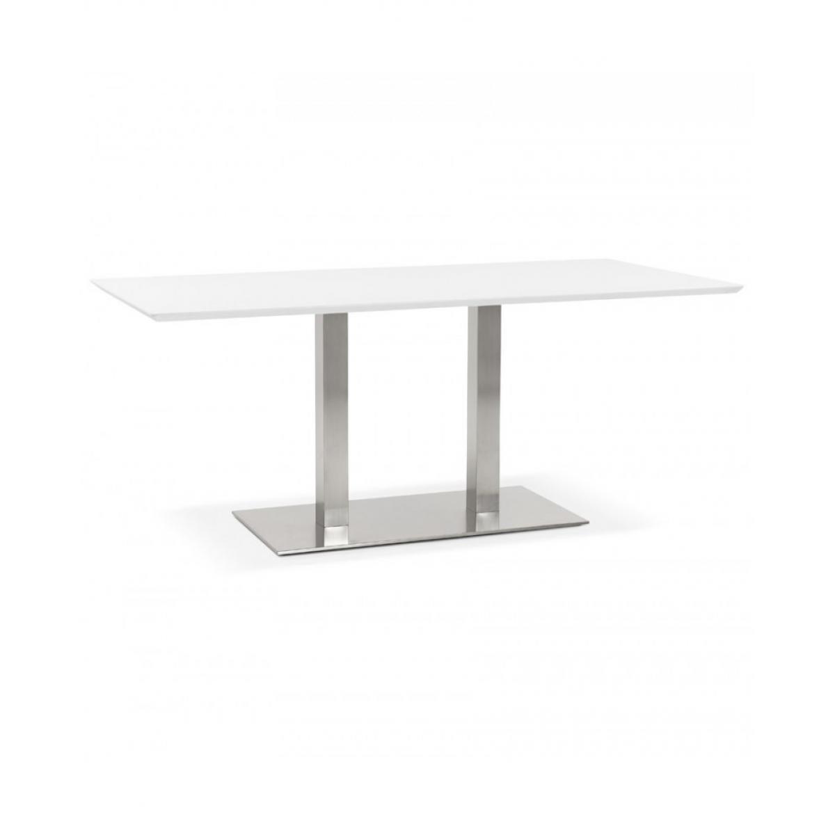 Kokoon Design Table à diner design RECTA WHITE 90x180x75 cm