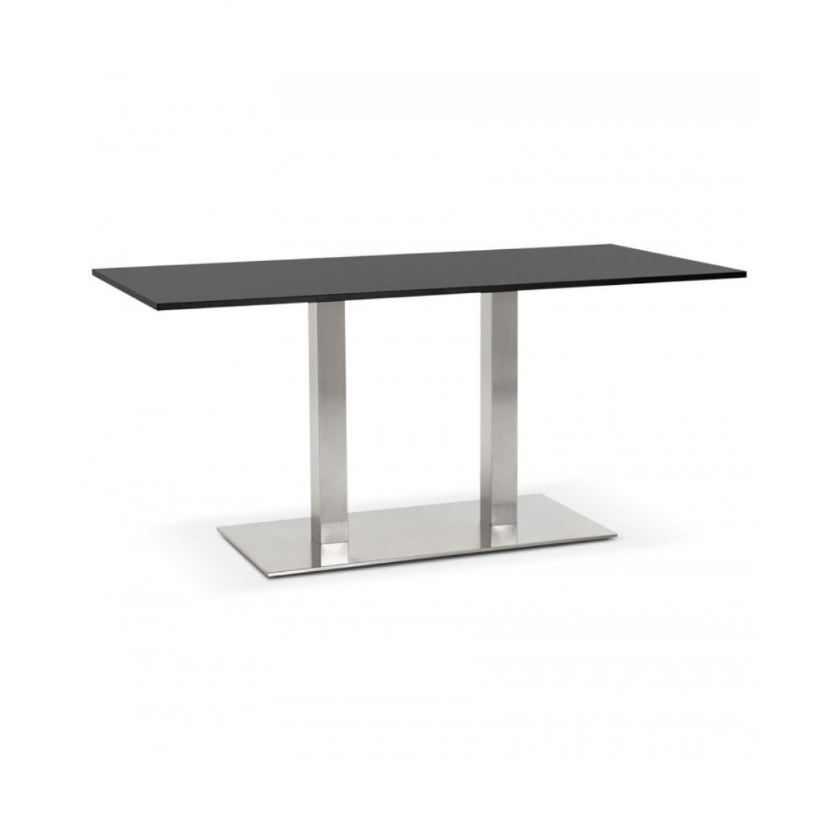 Kokoon Design Table à diner design SUTTON BLACK 80x160x75 cm