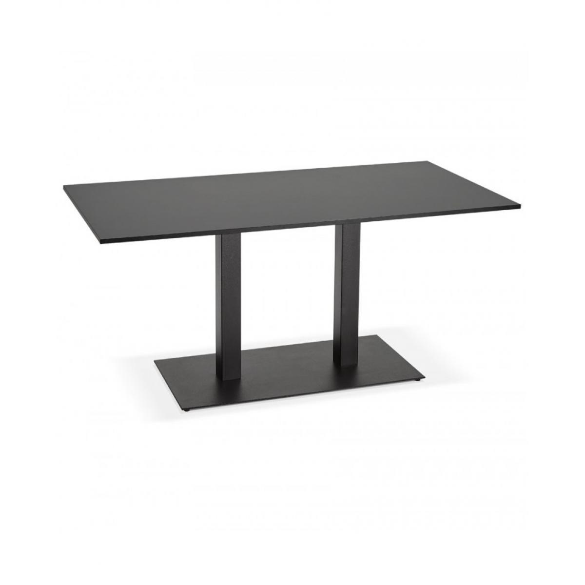 Kokoon Design Table à diner design VAXA BLACK 80x160x75 cm