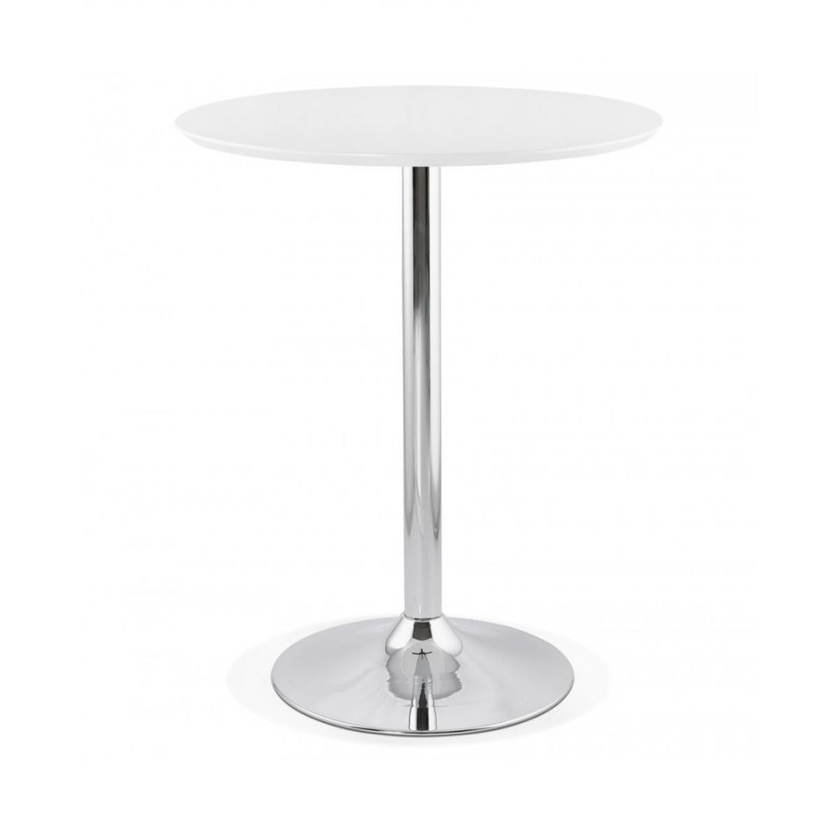 Kokoon Design Table bar design ATAA WHITE 90x90x110 cm