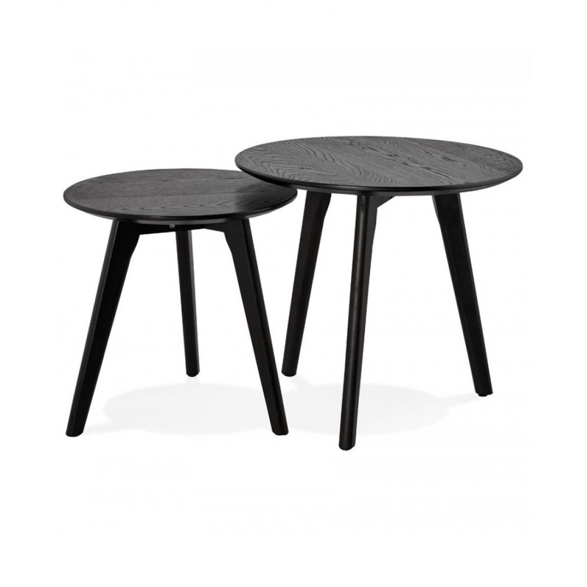 Kokoon Design Table basse design ESPINO BLACK 50x50x45 cm