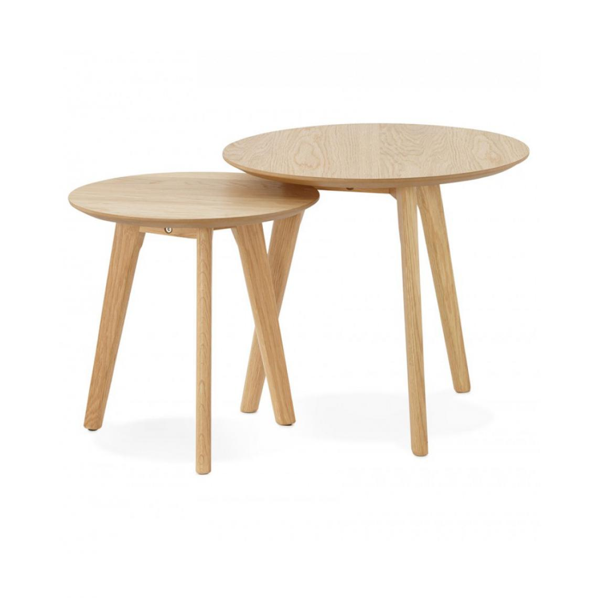 Kokoon Design Table basse design ESPINO NATURAL 50x50x45 cm