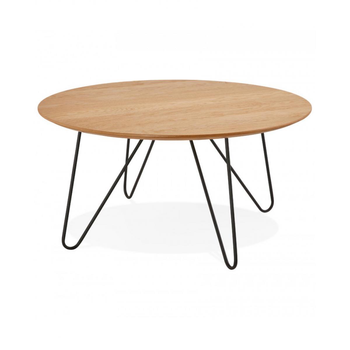 Kokoon Design Table basse design RUNDA NATURAL 80x80x40 cm