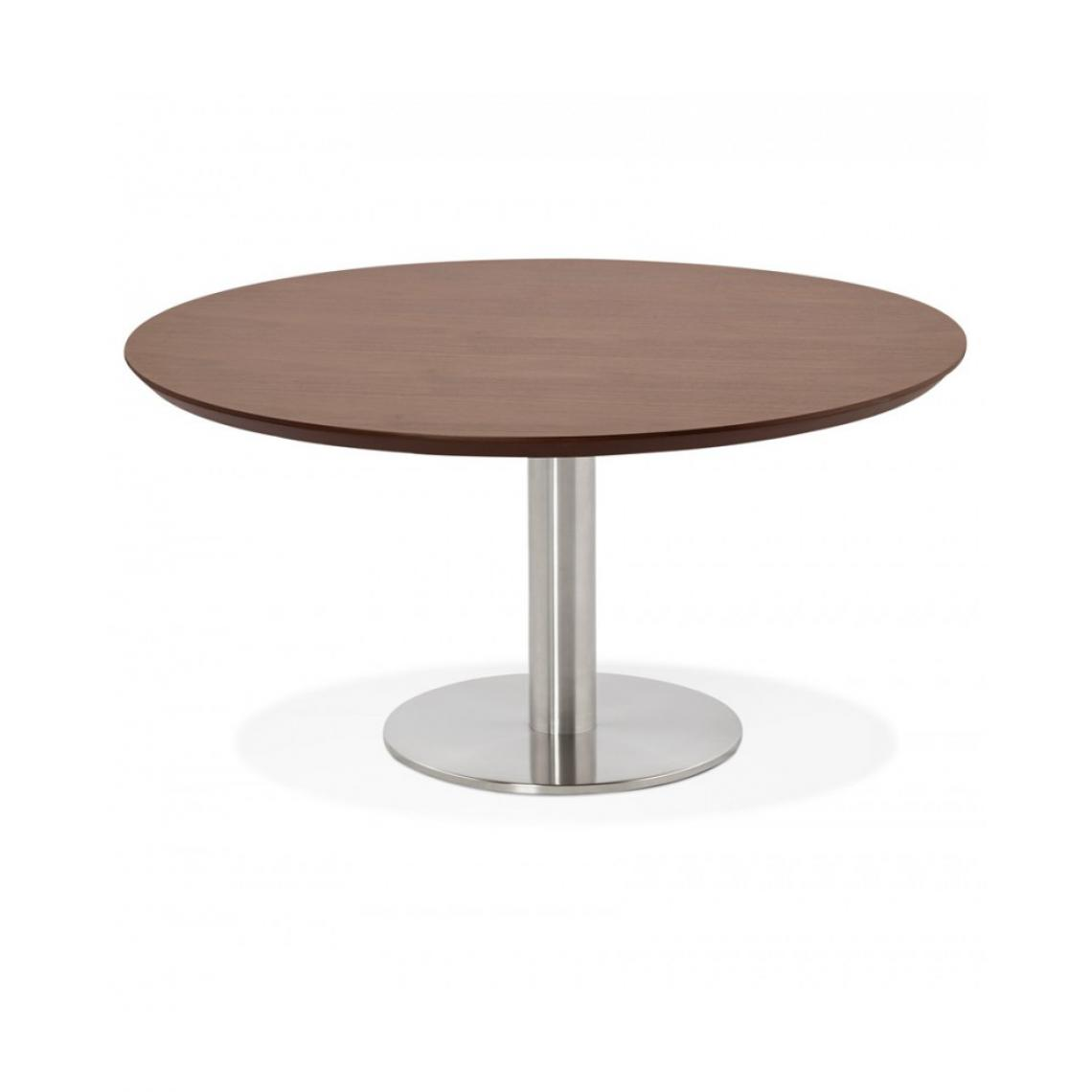 Kokoon Design Table basse design STUD WALNUT 90x90x45 cm