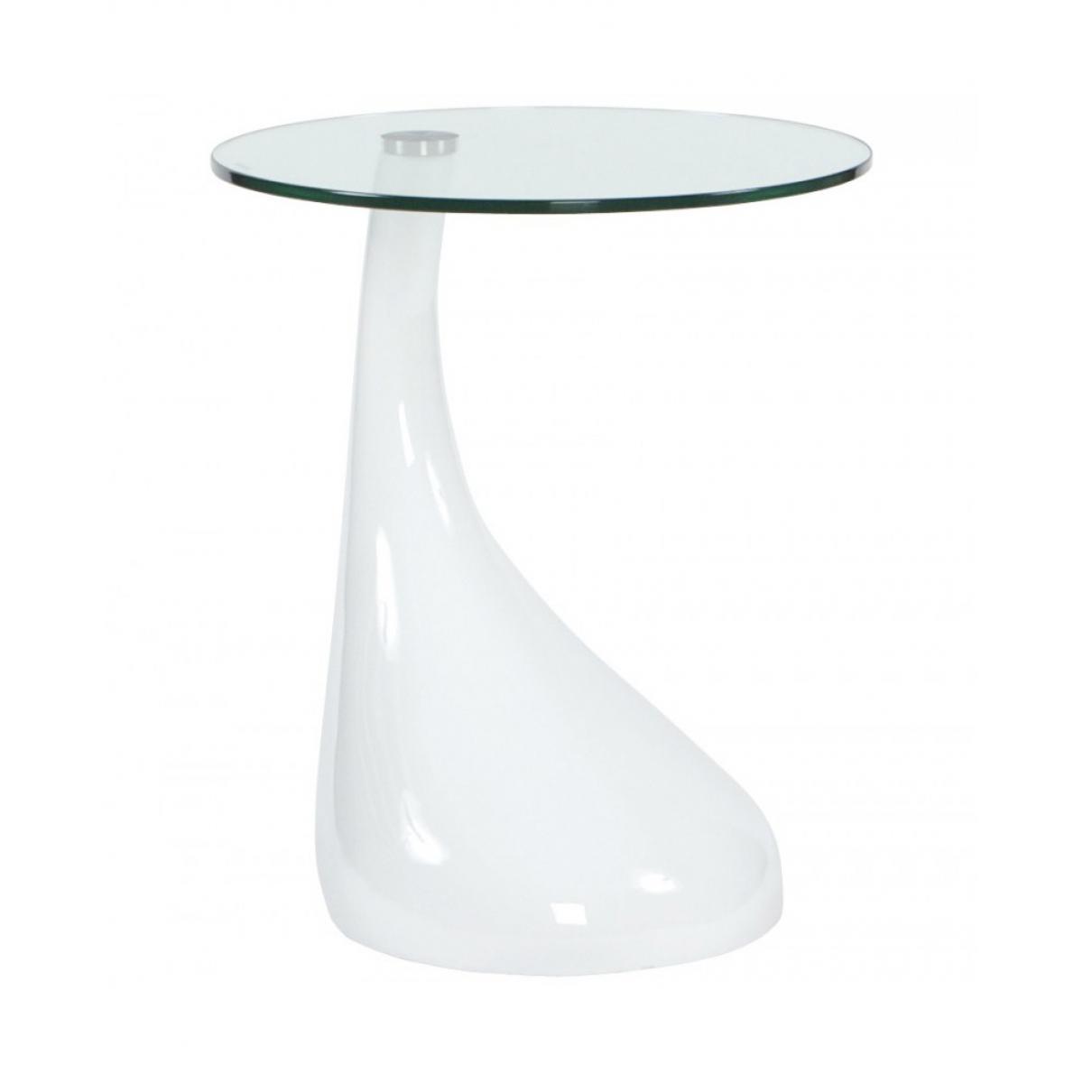 Kokoon Design table basse design TEAR WHITE 45x45x54 cm