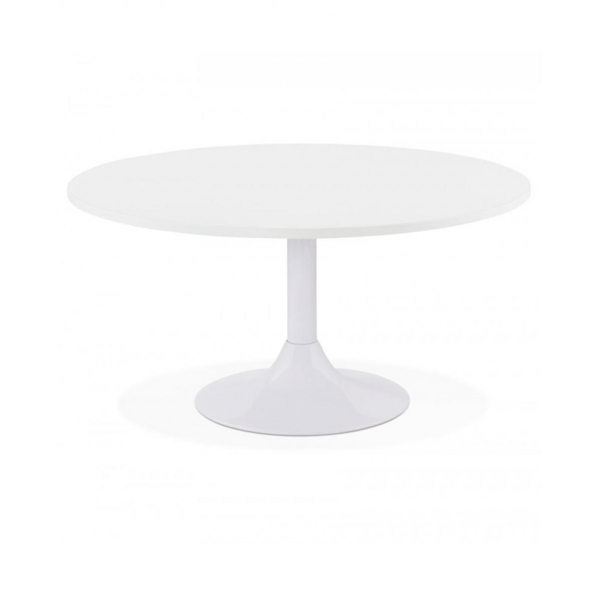 Kokoon Design Table basse design YUZU WHITE 90x90x45 cm