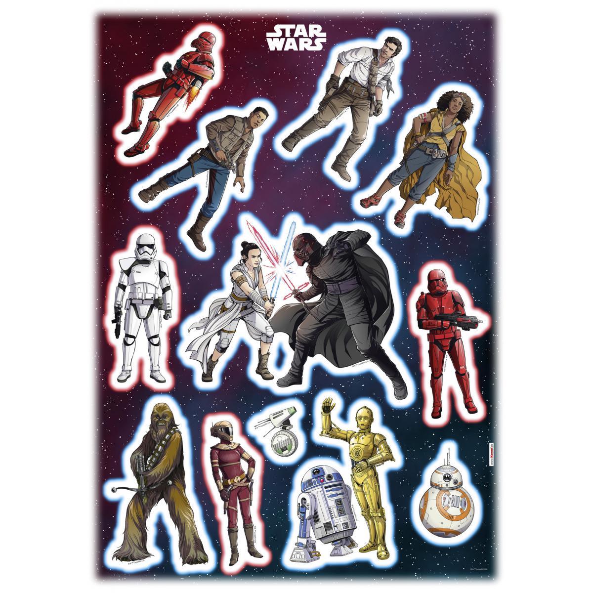 Komar 12 Stickers géant Héros Star Wars 50 x 70 cm