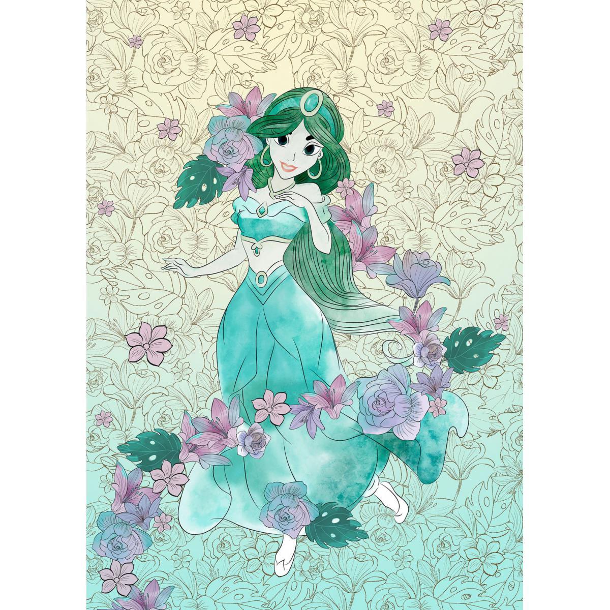 Komar Papier Peint Intissé Jasmine pastel d'Aladdin de Disney 200 cm x 280 cm