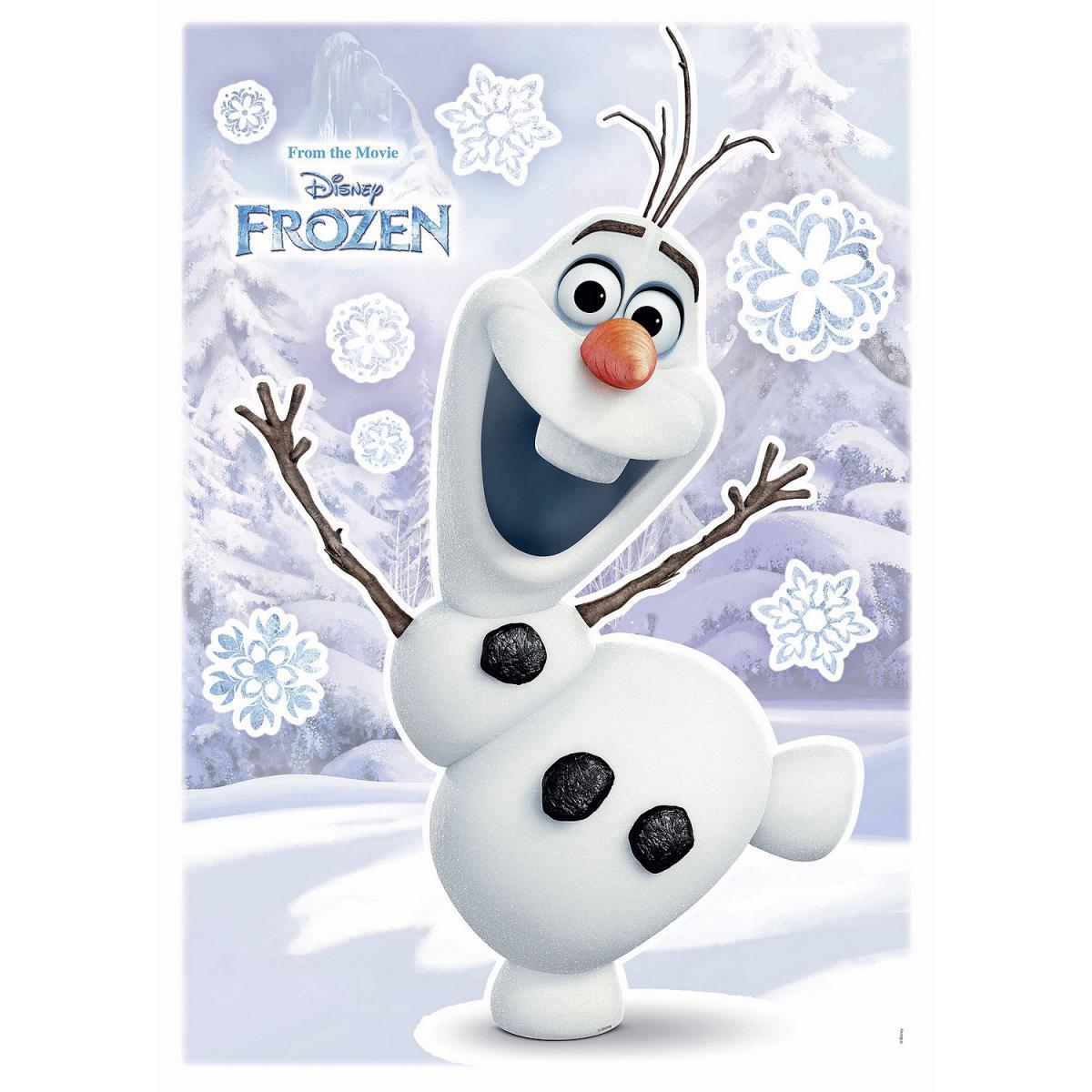 Komar Stickers géant La Reine des Neiges Disney Olaf qui sourit 50 x 70 cm