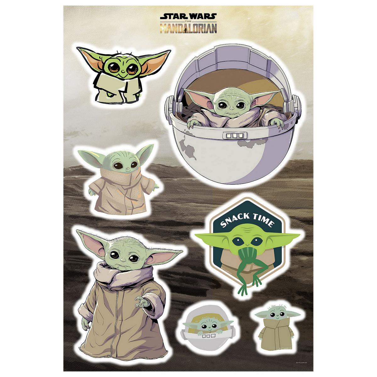Komar Stickers Muraux géant Mandolorian Baby Yoda The Child Cluster Star Wars 50 x 70 cm