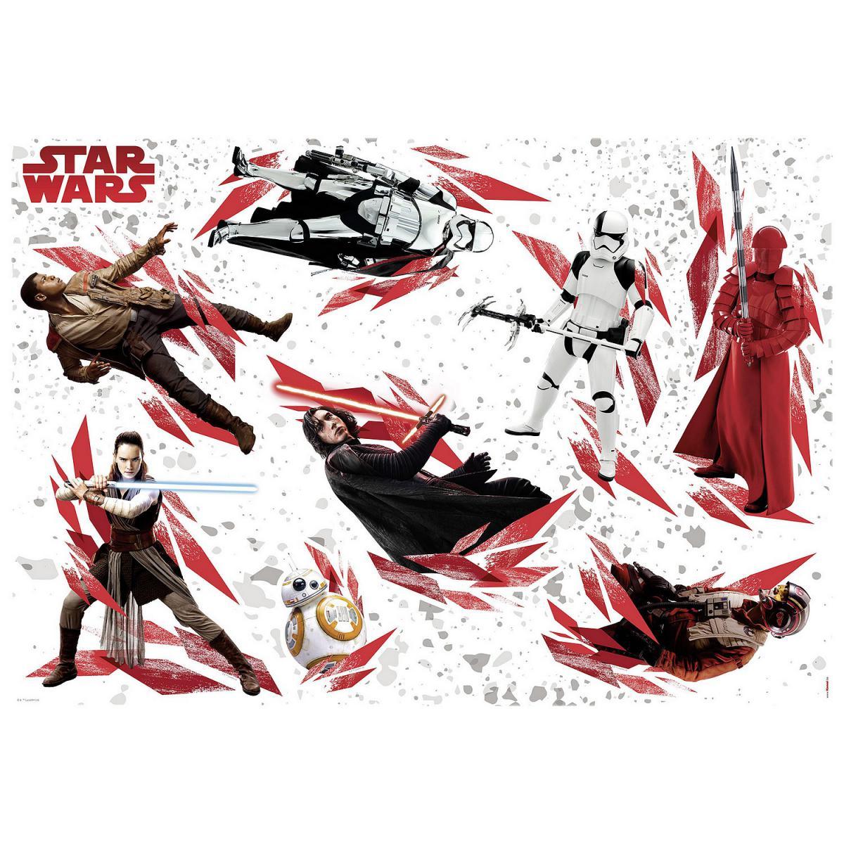 Komar Stickers muraux géants Star Wars The Last Jedi