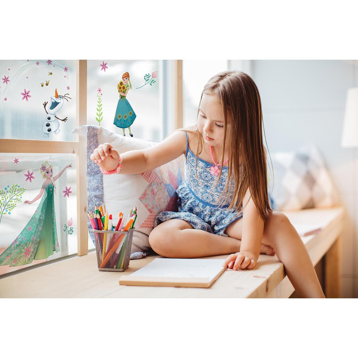 Komar Stickers pour fenetre La Reine des Neiges Printemps Disney Frozen