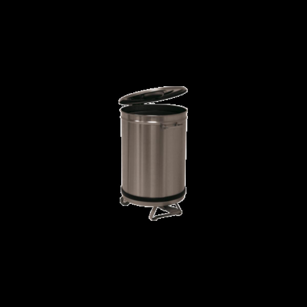 L2G Bac à Déchets 50 L Inox Roulant -