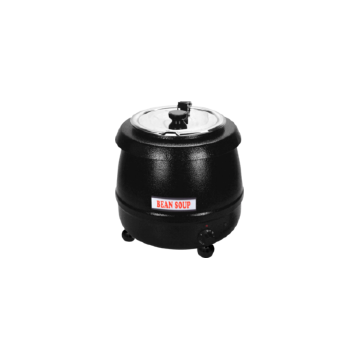 L2G Marmite à soupe noir de 8 L couvercle inox à charnières - L2g -