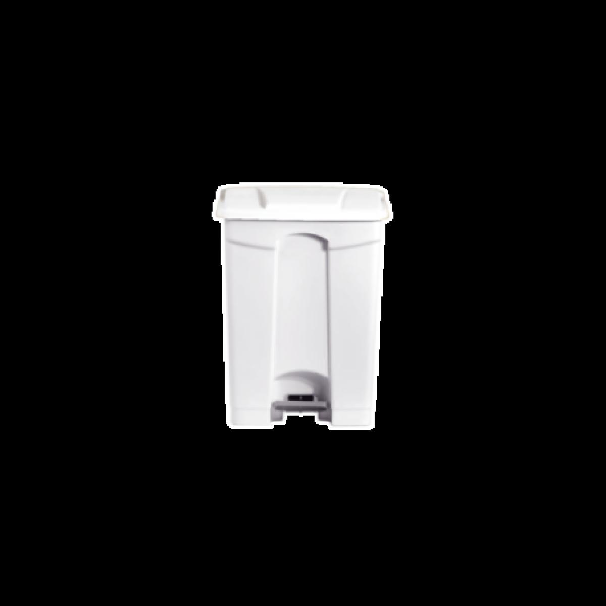 L2G Poubelle blanche 90 litres en Polypropylène -