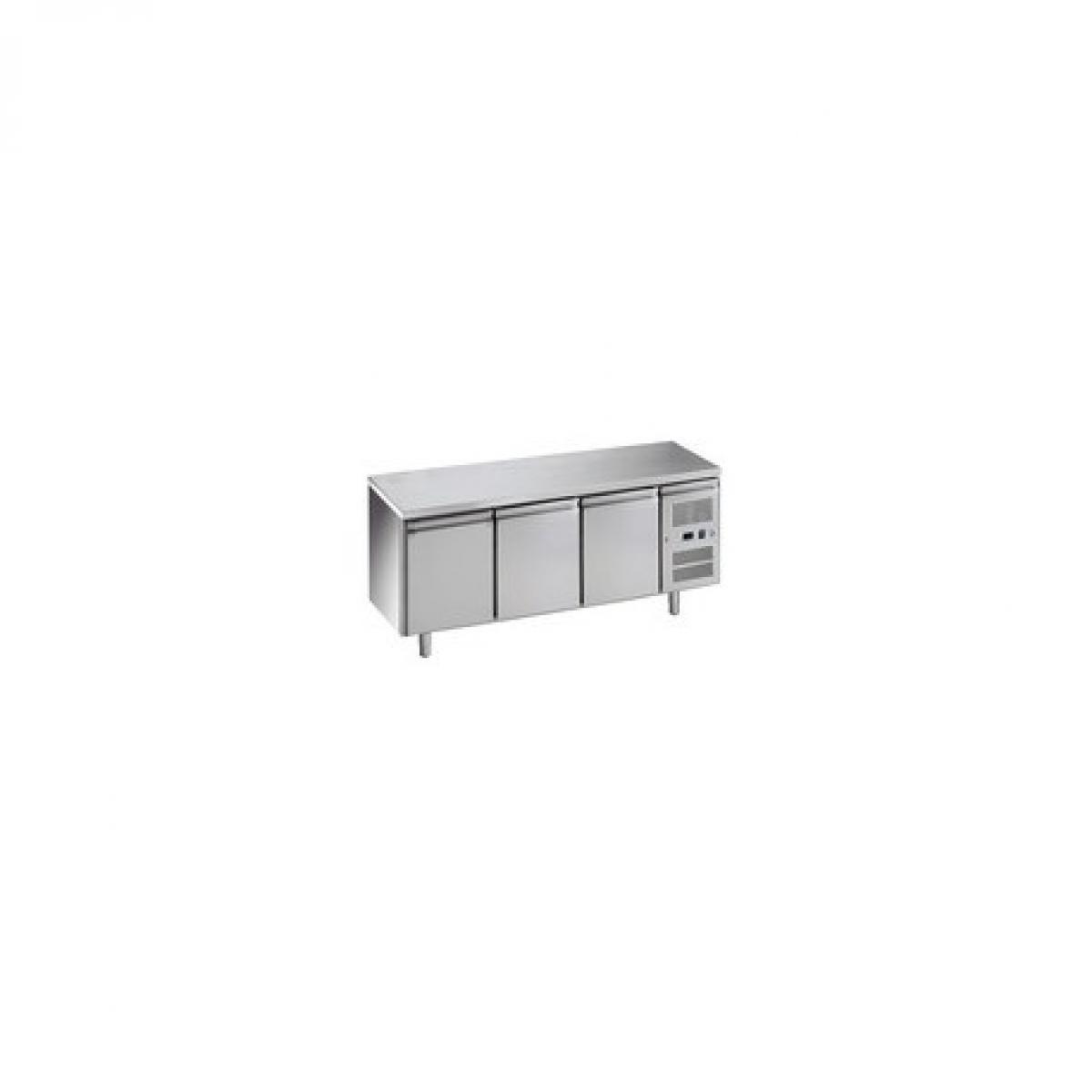 L2G Table réfrigérée 465 litres positive - 3 portes GN 1/1 inox - L2G - R600A 3 Portes 70