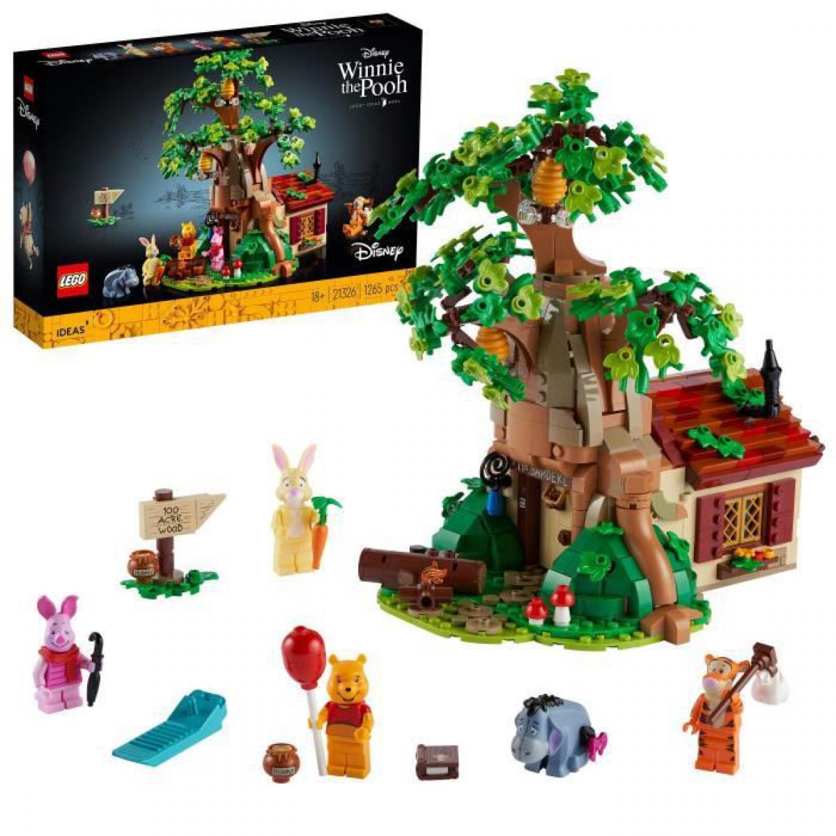 Lego LEGO 21326 Ideas Ensemble LEGO Disney pour adultes Winnie l'Ourson, Maison a exposer, Figurine LEGO Bourriquet, Figurine