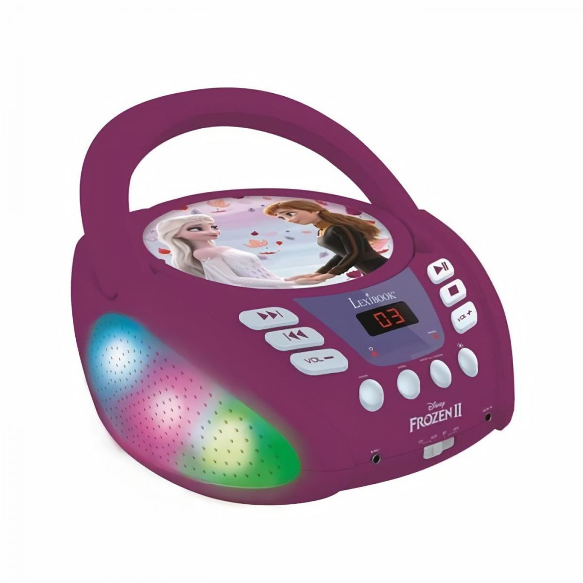 lexibook Lecteur CD Bluetooth La Reine des Neiges avec Effets Lumineux