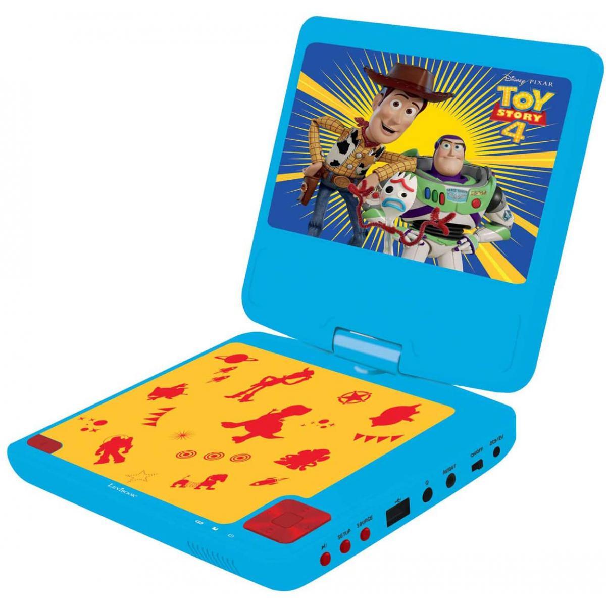 lexibook lecteur DVD Portable avec écran LCD et haut parleur Disney Toy Story 4 bleu jaune