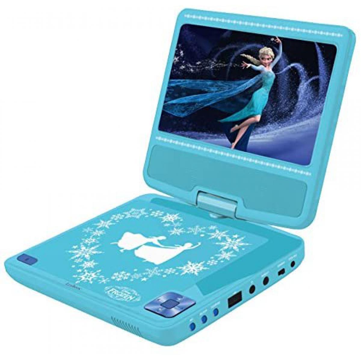 lexibook lecteur DVD Portable avec écran LCD et haut parleur la Reine des neiges bleu ciel