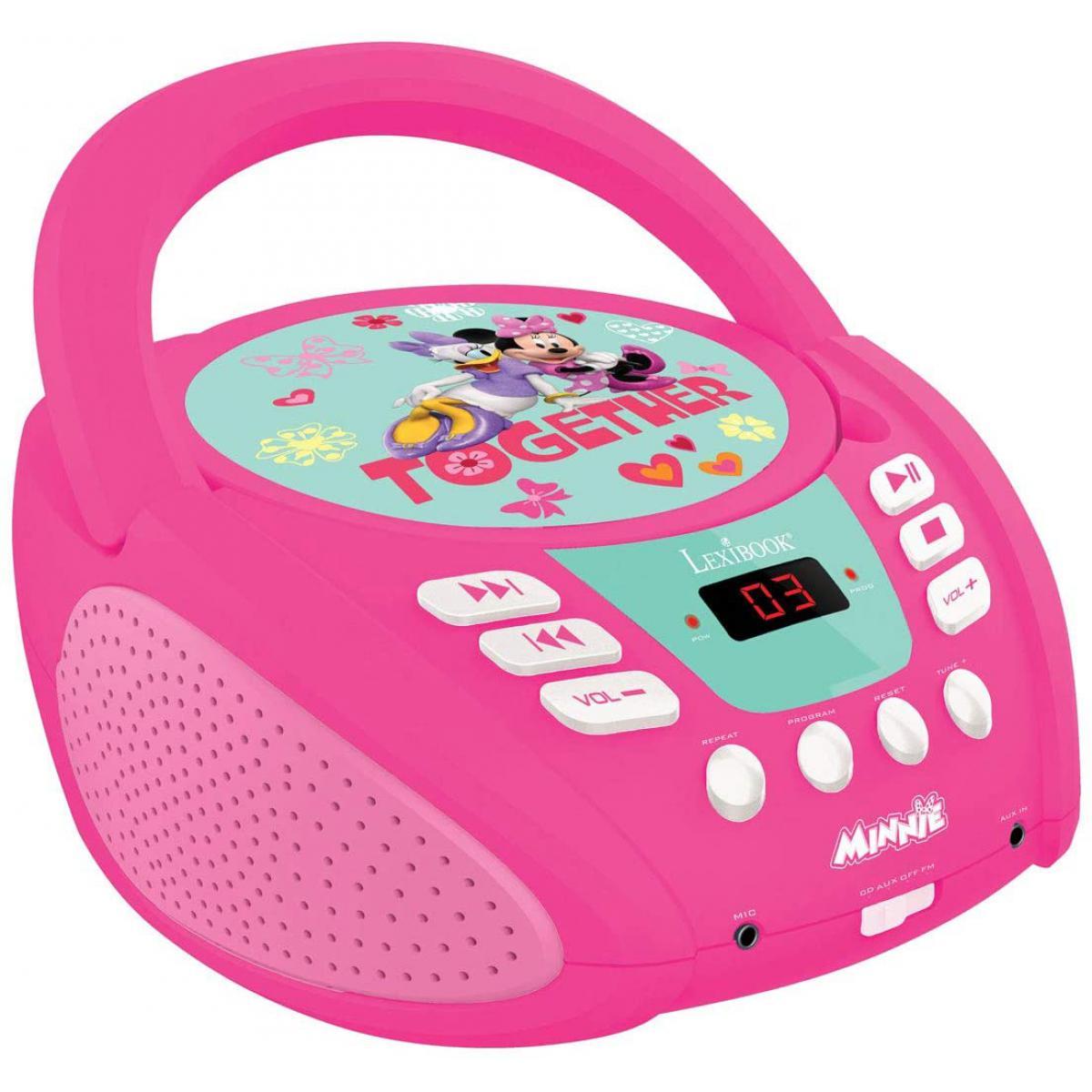 lexibook radio portable CD AUX-IN à piles ou secteur Disney minnie rose